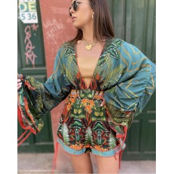 TROPICAL BUTTERFLY JUMPSUIT